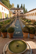 Inner yard of Generalife palace in Alhambra, Granada