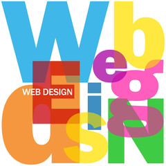 """WEB DESIGN"" Letter Collage (graphics internet website webpage)"
