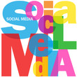 """SOCIAL MEDIA"" Letter Collage (information society networking)"