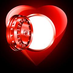 Light open door safe Heart; eps8