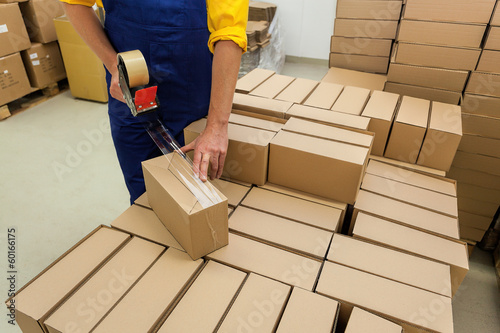 Fotobehang Industrial geb. Products packing
