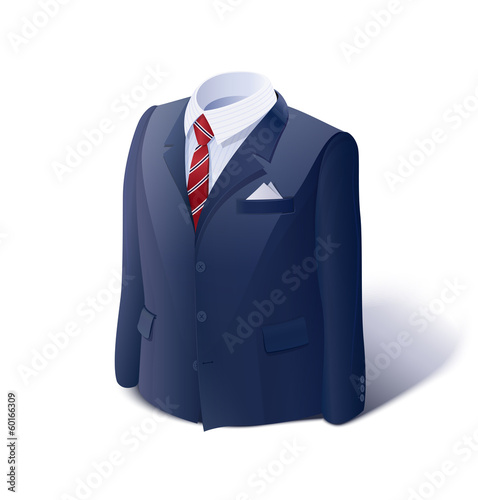 Jacket and shirt. Business suit.  Eps10 vector illustration.