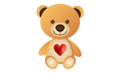 Orange Love Teddy Bear
