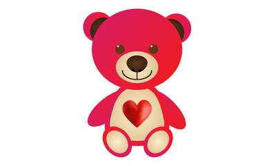 Red Love Teddy Bear