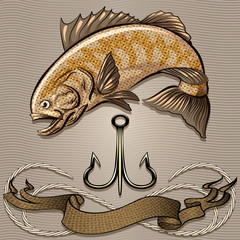 The fish and treble hook