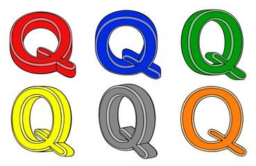 Six letter (Q) 3d