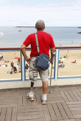 person with artificial leg