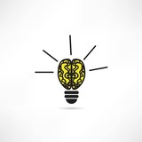 Light bulb vector icon