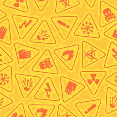 Pattern warning signs of danger