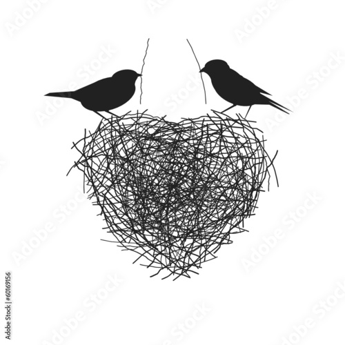 Two Birds Heart Two Birds Making Their Heart