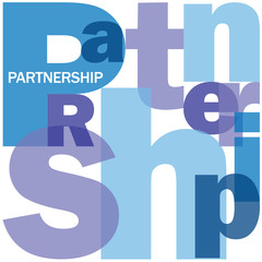 """PARTNERSHIP"" Letter Collage (team management contract clients)"