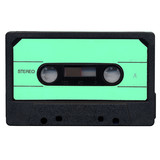 Tape cassette with green label