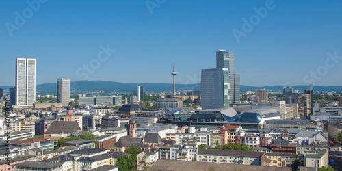 Aerial view of Frankfurt - panorama