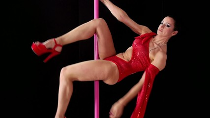 6of8 Girl dancing lap dance, beautiful woman doing pole dance