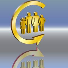 Kreispfeil 3d Familienpolitik