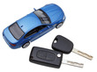 above view of two vehicle keys and model car - 60172331