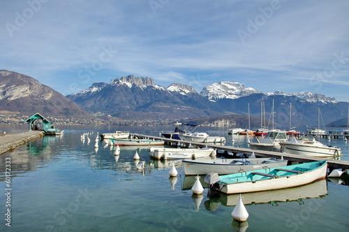Papiers peints Alpes lac d'annecy-port de sevrier