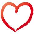 Rotes Herz - Kreidestrich