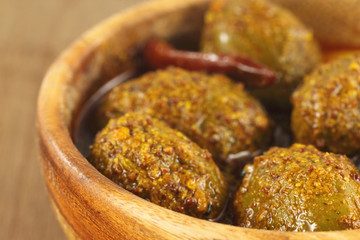 Spicy olive pickle