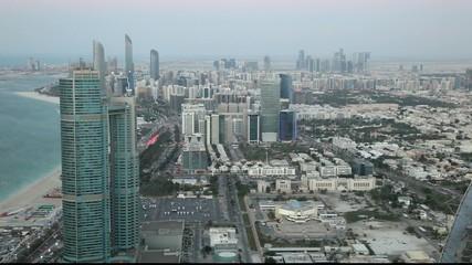 City of Abu Dhabi at dusk. United Arab Emirates