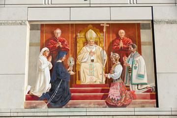 Cracow , Lagiewniki - The centre of Pope John Paul II.