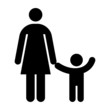 Mother and kid symbol