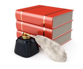 books and writing utensils