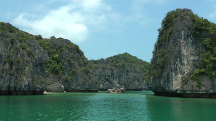 Mountain island in Halong Bay, Vietnam