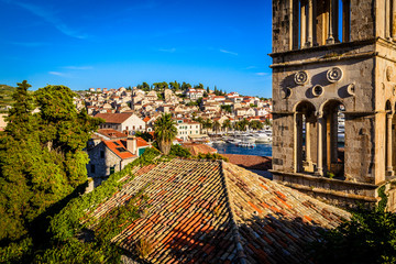 Old town of Hvar on Hvar island in Croatia