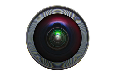 Isolated wide angle lens