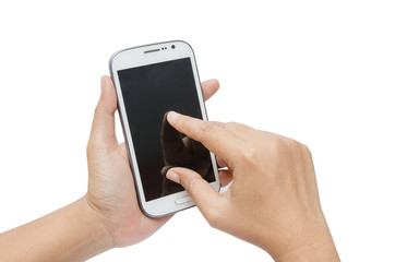 Isolate hand touch screen on smart phone