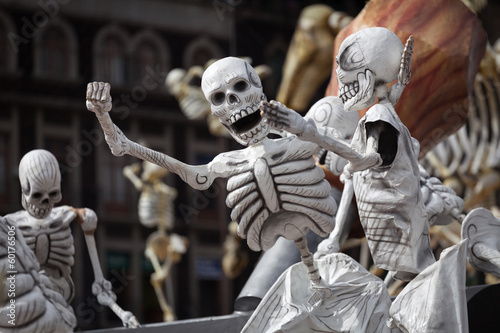 Keuken foto achterwand Mexico Skeletons of Traditional Day of the Dead, Mexico