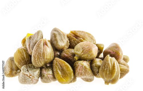 Capers isolated on white background