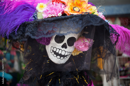 Foto op Canvas Mexico Skeletons of Traditional Day of the Dead, Mexico