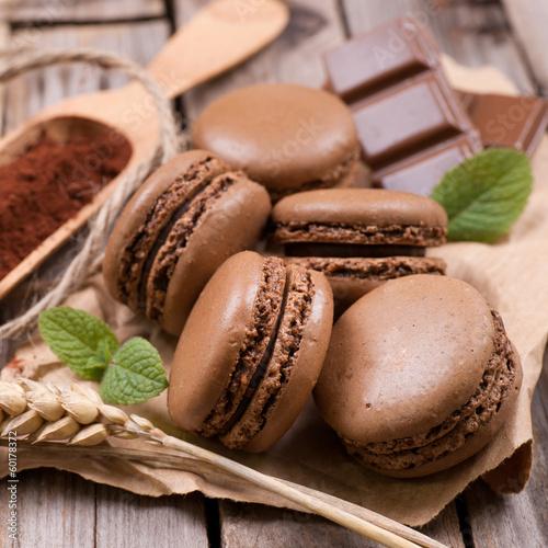 Macarons, Schokolade