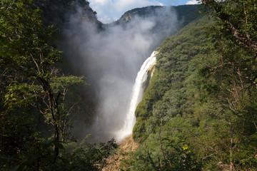 The waterfall Tamul, Huasteca potosina, Mexico