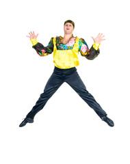Young attractive man dancing
