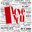"""I love you"" in different languages"