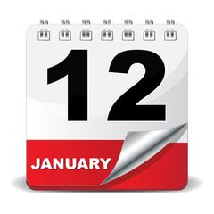12 JANUARY ICON
