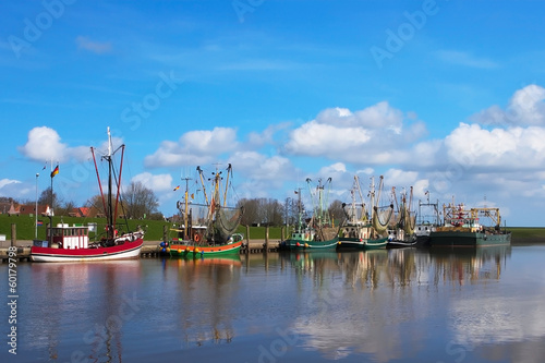 Crabber boats in Greetsiel Harbor