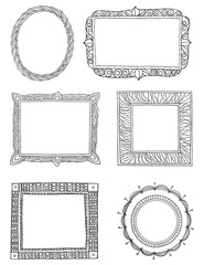 Ornate hand drawn frames three