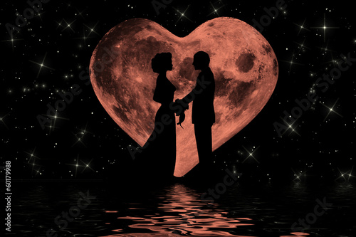 Romantic moonlight atmosphere