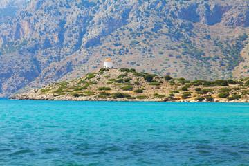 Simi island and windmills