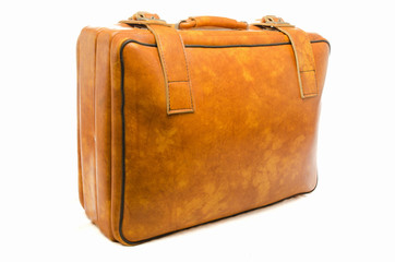 Well -Traveled Vintage Suitcase  ( Luggage )