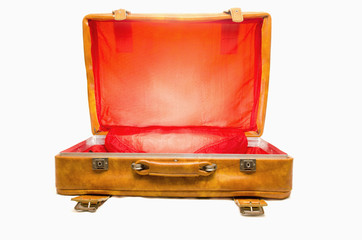 Vintage Luggage Open