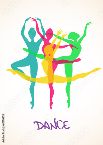 Illustration with ballet dancers