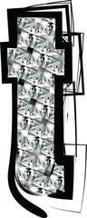 Diamond Font letter t