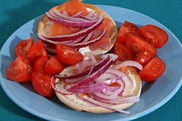 Lox and Bagels Sandwich
