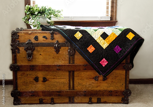 Quilt on Wooden Chest