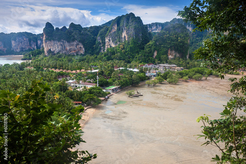 Beatiful beach and limestone landscape at Railay
